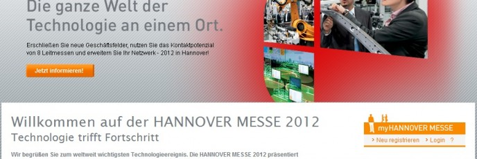 Hannover-Messe Website