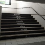 Stairs calling the students for the event!