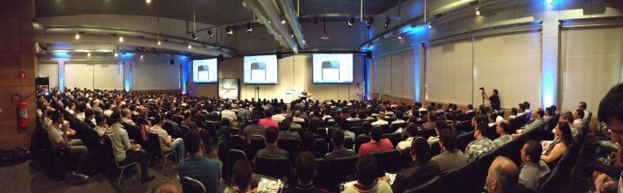Audience at the Embarcadero Conference Brazil 2014